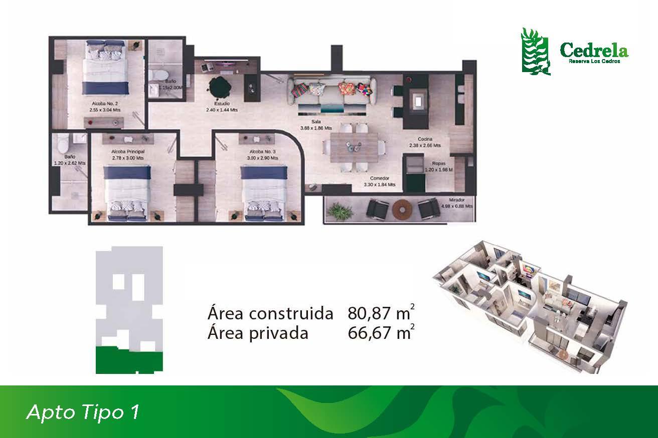 Apartamento tipo 1
